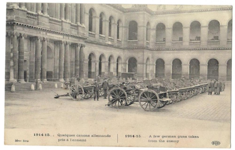 Primera Guerra Mundial - 1914-15... Quelques canons allemands pris à l´ennemi / A few german guns taken from the enemy