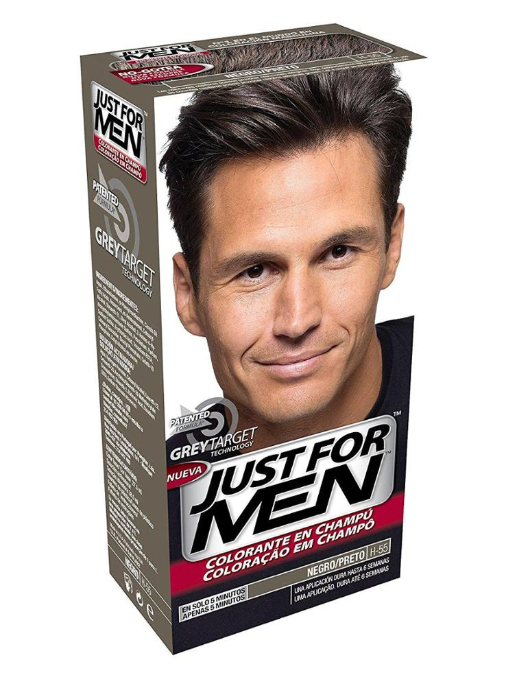 JUST FOR MEN JUST FOR MEN Colorante en champú - Tinte para las canas del pelo para hombres - castaño negro - 30 ml