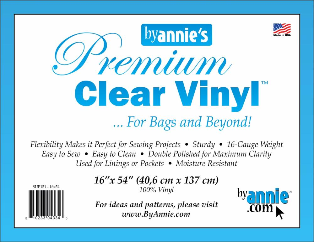 "Supplies Vinyl, clear - 16"" x 54"""