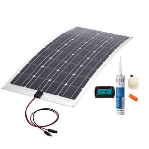 VECHLINE kit PLACA SOLAR 150W FLEXIBLE