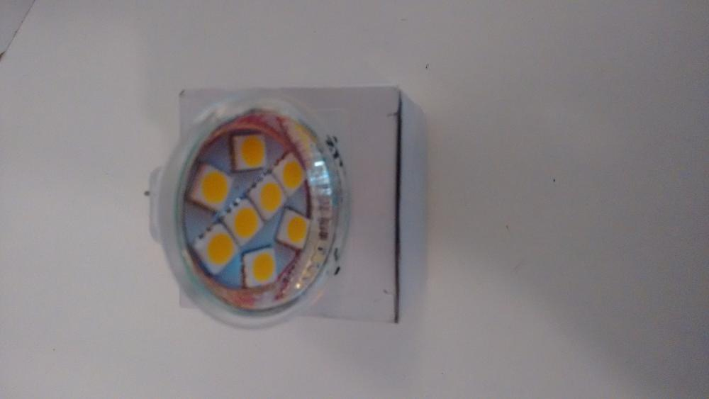 Bombilla MR11 8 led SMD blanco cálido