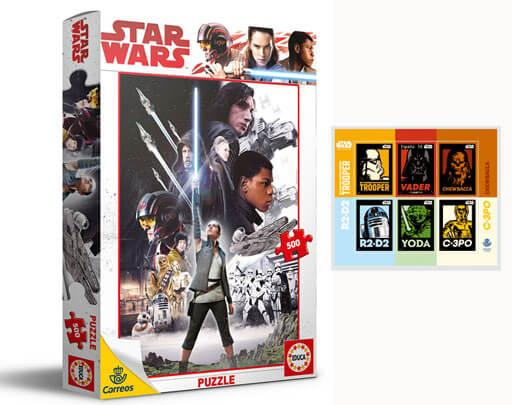 Puzzle 500 piezas Episodio VIII + Sello Star Wars