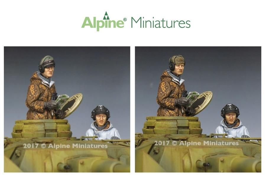 ALPINE MINIATURES 35240 WSS Panzer Crew Winter Set