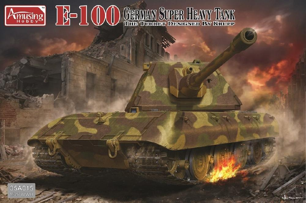 AMUSING HOBBY 35A015 German Super Heavy Tank E-100 (Krupp Turret)