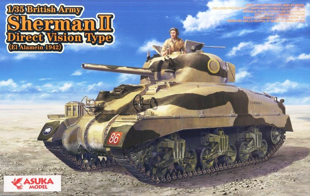 ASUKA MODEL 35014 British Sherman II Direct Vision Type (El Alamein, 1942)