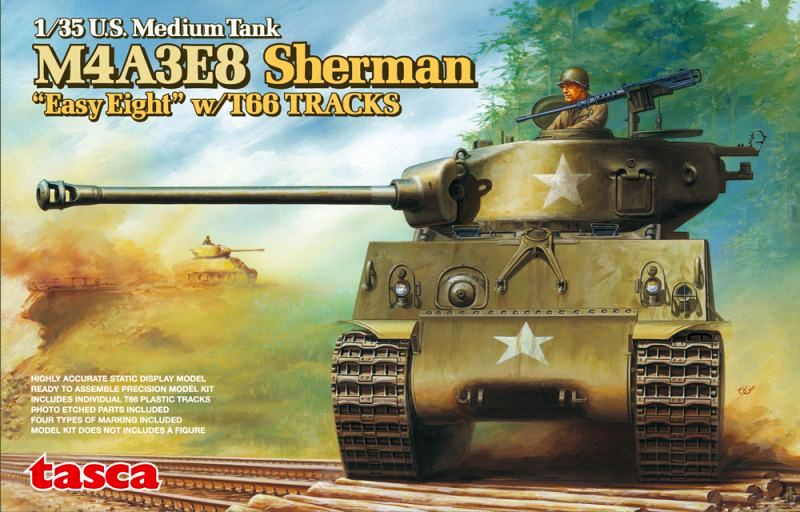 ASUKA MODEL 35020 U.S. Medium Tank M4A3E8 Sherman 'Easy Eight'