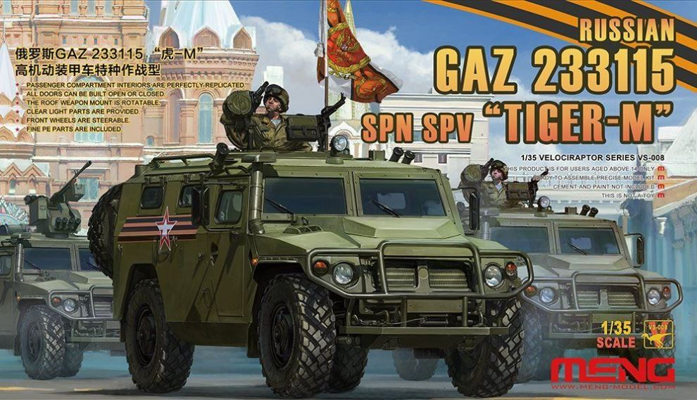 MENG MODEL VS008 Russian GAZ-233115 SPN SPV 'Tiger-M'