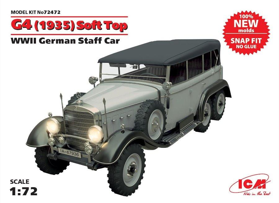 ICM 72472 German Staff Car G4 (1935) Soft Top