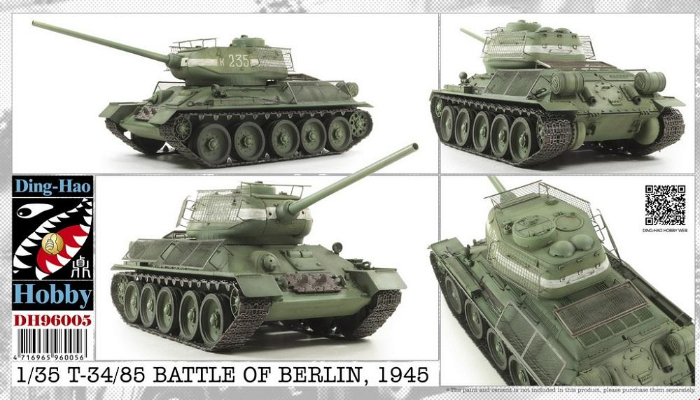 DING-HAO 96005 Soviet T-34/85 Factory 174 (Battle of Berlin, 1945)