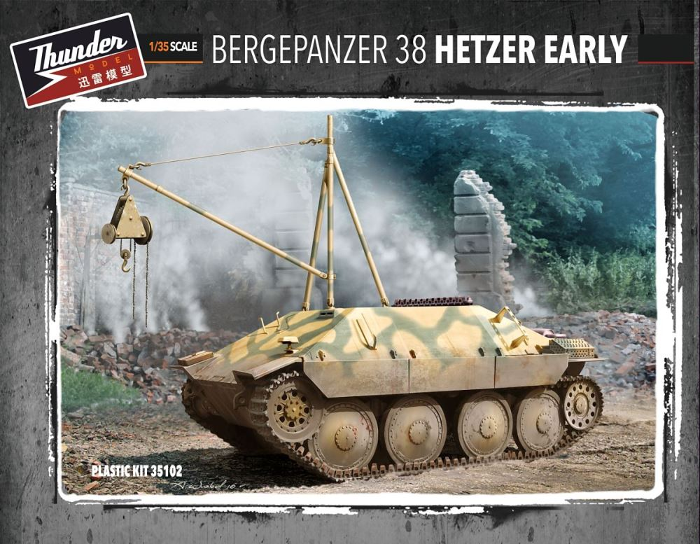 THUNDER MODEL 35102 German Bergepanzer 38 'Hetzer' (Early)