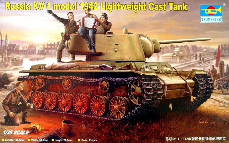 TRUMPETER 00360 Soviet Heavy Tank KV-1 Model 1942 (Lightweight Cast Turret)