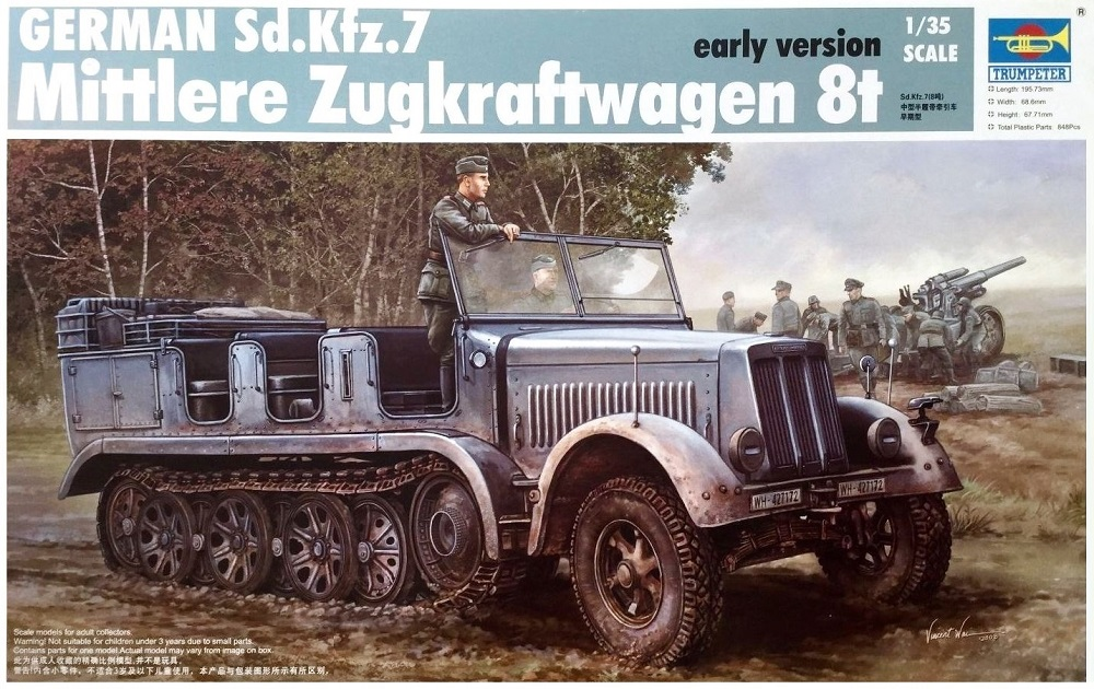 TRUMPETER 01514 German Sd.Kfz.7 Mittlere Zugkraftwagen (Early)