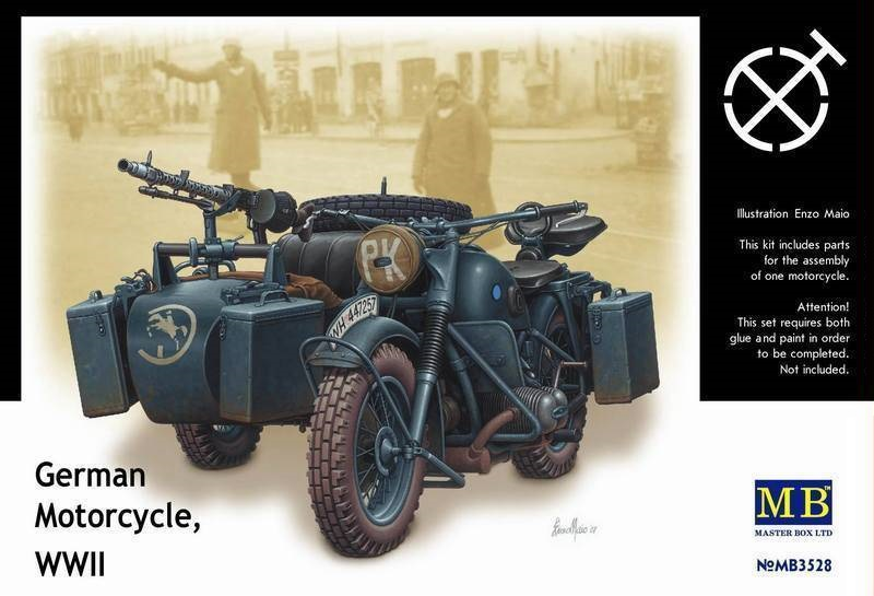 MASTER BOX 3528 German Motorcycle and Sidecar