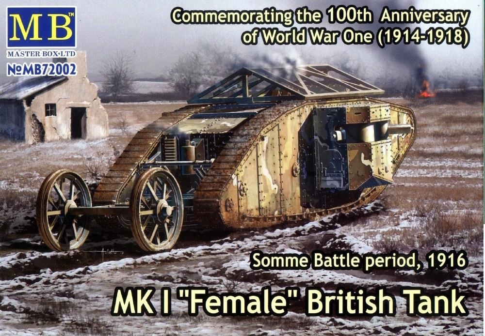 MASTER BOX 72002 British Tank Mk.I 'Female' (Somme, 1916)