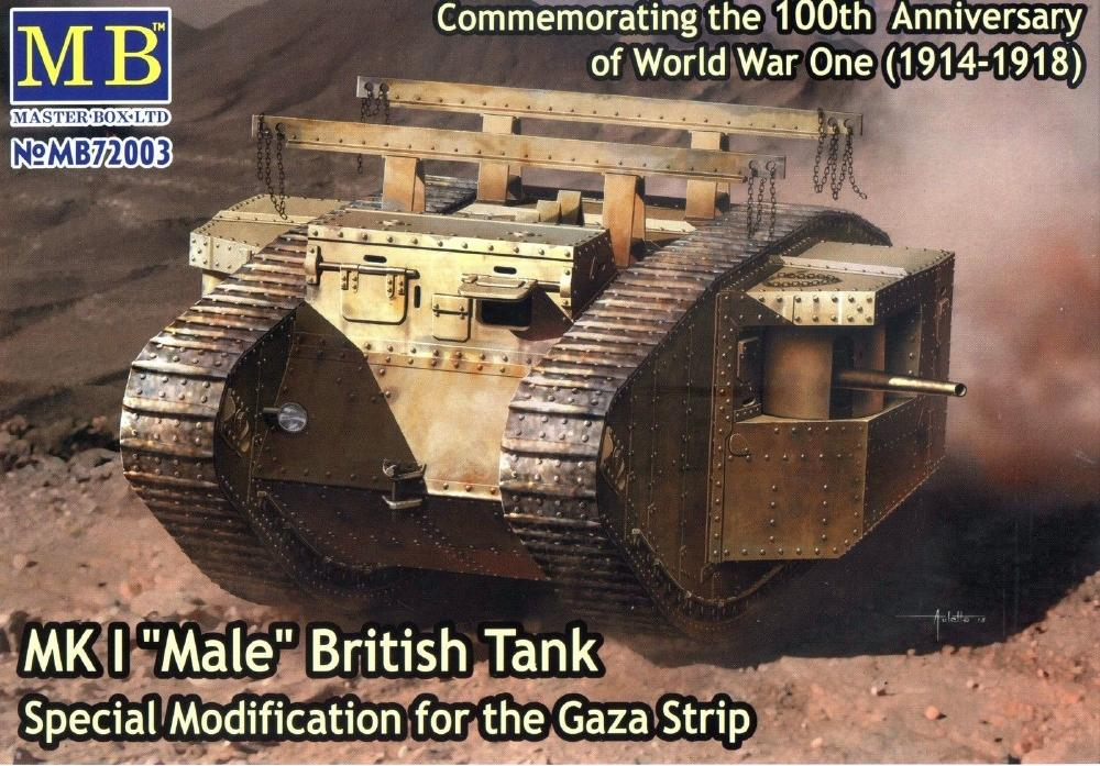 MASTER BOX 72003 British Tank Mk.I 'Male' (Special Modification for Gaza Strip)