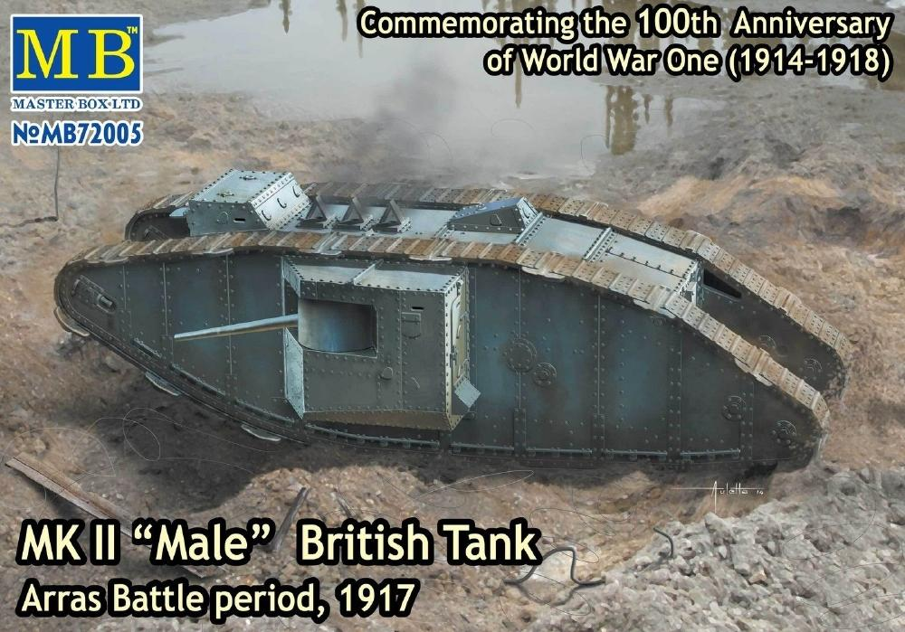 MASTER BOX 72005 British Tank Mk.II 'Male' (Arras Battle, 1917)