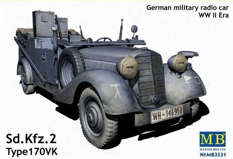 MASTER BOX 3531 German Military Radio Car Sd.Kfz.2 Type 170VK