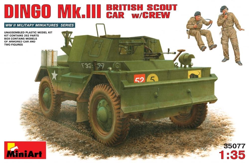 MINIART 35077 British Scout Car Dingo Mk.III with Crew (WWII)