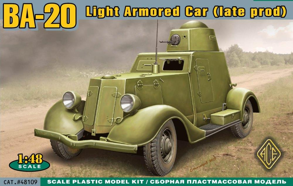 ACE 48109 Soviet Armoured Car BA-20 (Late)