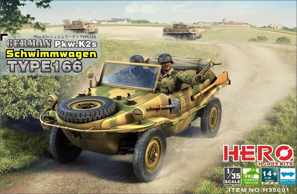 HERO HOBBY KITS H35001 German PKW Typ Ks2 Schwimmwagen Type 166