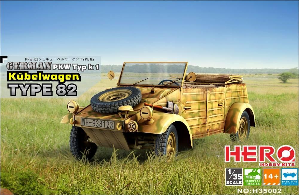 HERO HOBBY KITS H35002 German PKW Typ k 1 Kübelwagen Type 82
