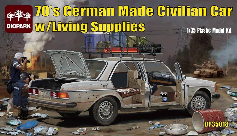 DIOPARK DP35018 70's German Made Civilian Car with Living Supplies