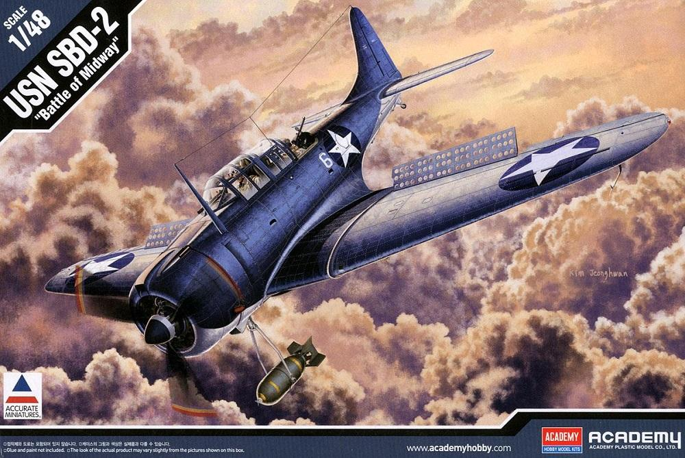 ACADEMY 12296 Douglas SBD-2 'Dauntless' (Battle of Midway)