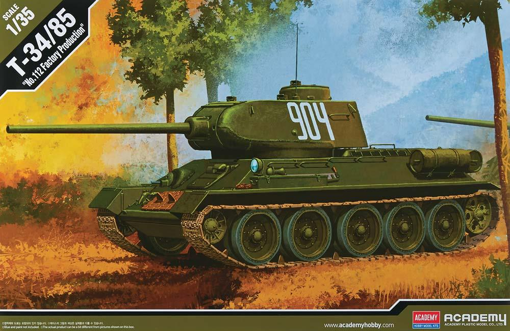 ACADEMY 13290 Soviet T-34/85 'No.112 Factory Production'