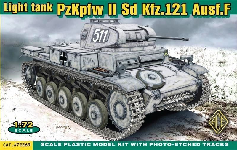 ACE 72269 German Pz.Kpfw.II Ausf.F (Sd.Kfz.121)
