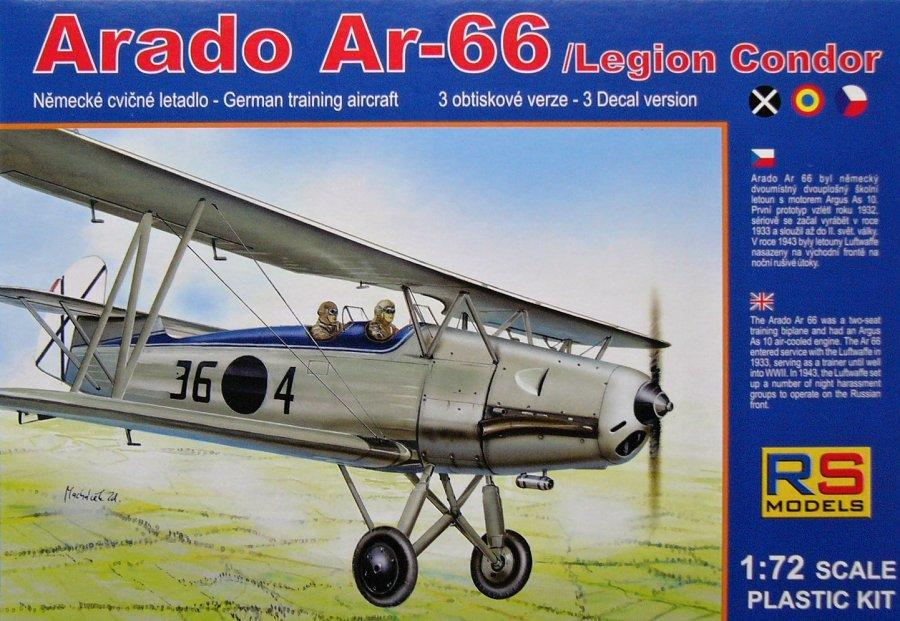 RS MODELS 92060 Arado Ar 66 (Spanish Legion Condor)