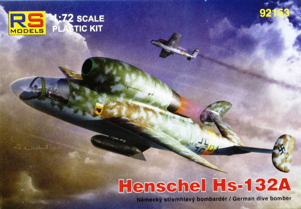 RS MODELS 92153 Henschel Hs 132A (with BMW 003 Engine)