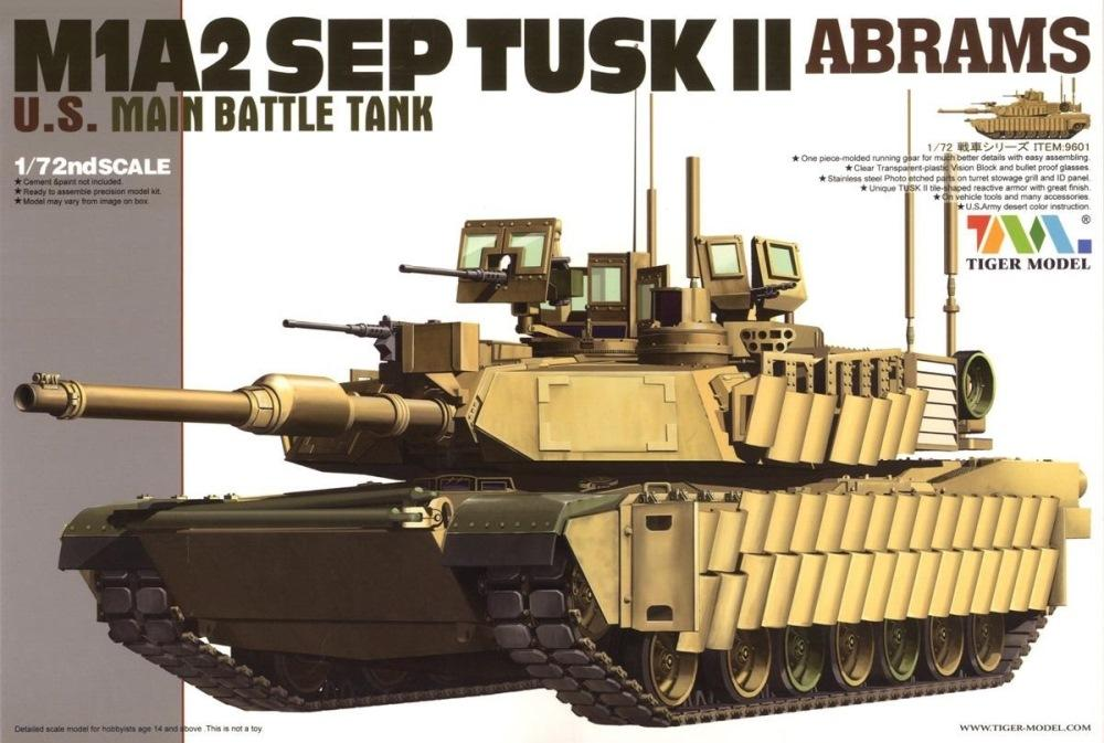 TIGER MODEL 9601 U.S. Main Battle Tank M1A2 SEP Tusk II 'Abrams'