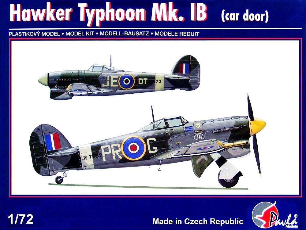 PAVLA MODELS 72044 Hawker Typhoon Mk.Ib (Car Door Version)