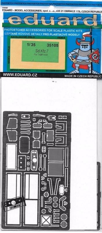 EDUARD 35105 Set for German Sd.Kfz.7 (Tamiya)