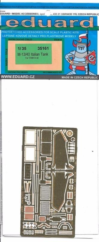 EDUARD 35161 Set for M-13/40 (Tamiya)