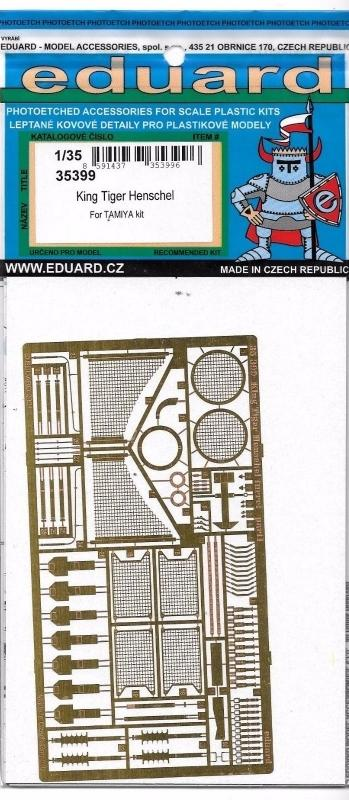 EDUARD 35399 Set for King Tiger Henschel Turret (Tamiya)