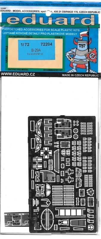 EDUARD 72204 Set for B-29A Super Fortress (Academy)