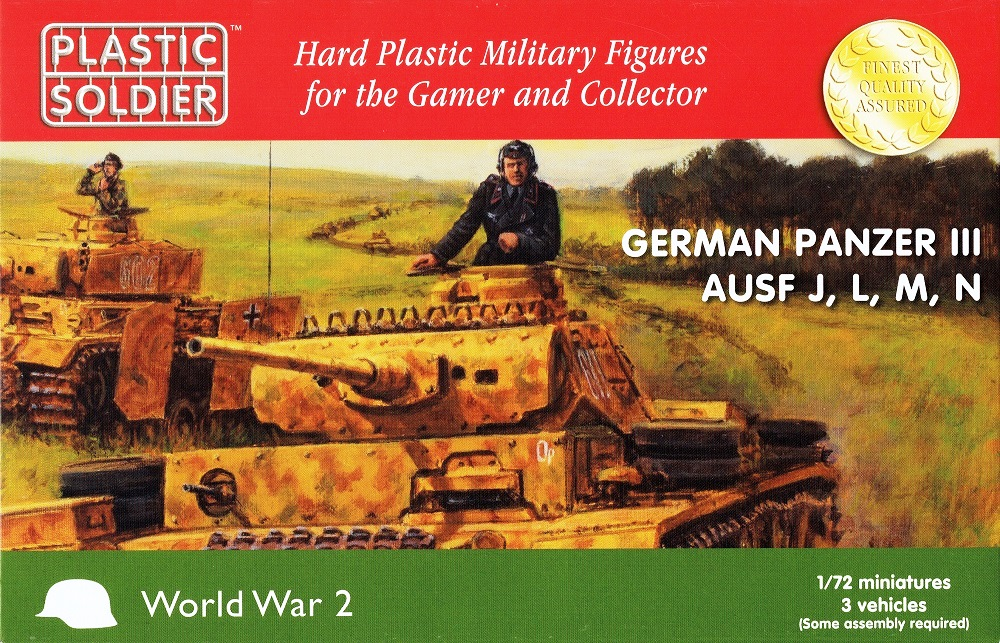 PLASTIC SOLDIER WW2V20018 German Medium Tank Pz.Kpfw.III Ausf.J/L/M/N