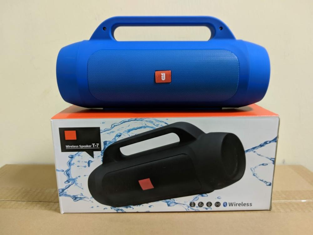 WIRELESS SPEAKER T-7 - ALTAVOZ BLUETOOTH - AZUL