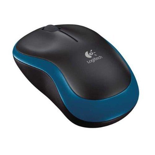 LOGITECH RATON OPTICO M185 WIRELESS AZUL