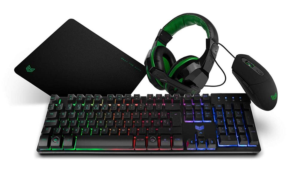 BG GAMING PACK COMBO TECLADO + RATON + AURICULARES + ALFOMBRILLA