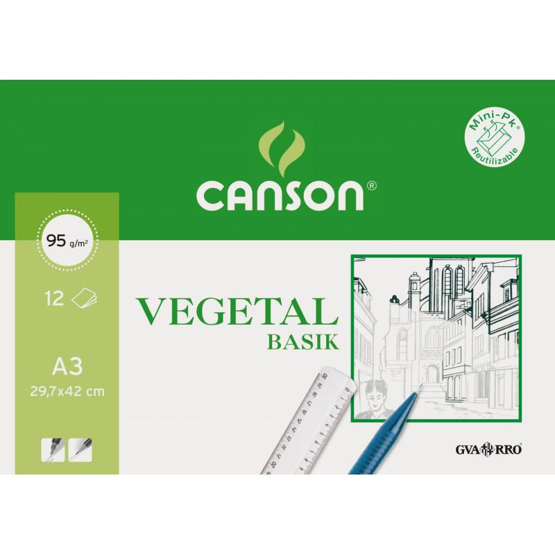CANSON PAPEL VEGETAL A3 PACK 12H