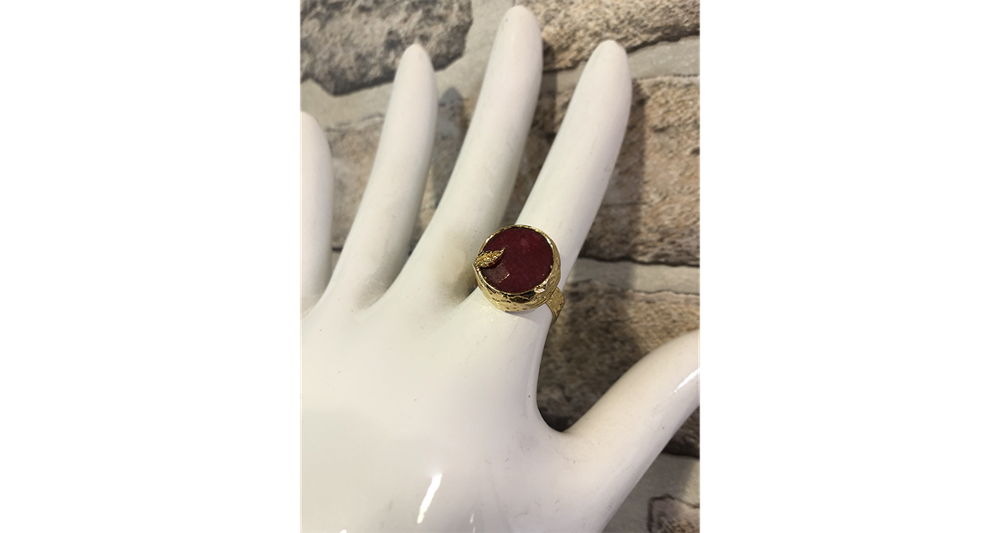 Small Red Stone Ring