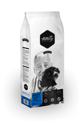 Amity Senior Light pollo y arroz 15kg