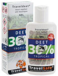 "TRAVEL SAFE Gel Repelente de Insectos ""Traveldeet 30% DEET"""