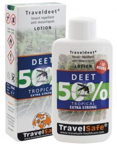 "TRAVEL SAFE Loción Repelente de Insectos ""Traveldeet 50% DEET"""
