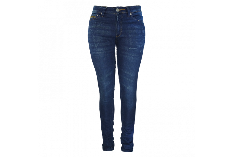 ON BOARD Jeans Mujer KEVLAR CHIC azul + PROTECCIONES