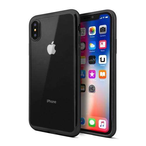 UNOTEC Funda TPU Gel para Apple iPhone X con Color Frame