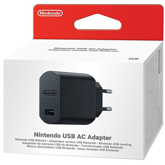 Nintendo Adaptador de Corriente USB para Nintendo Switch