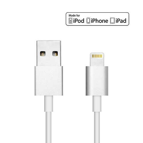 UNOTEC Cable Lightning Aluminio para iPhone 6 Plus